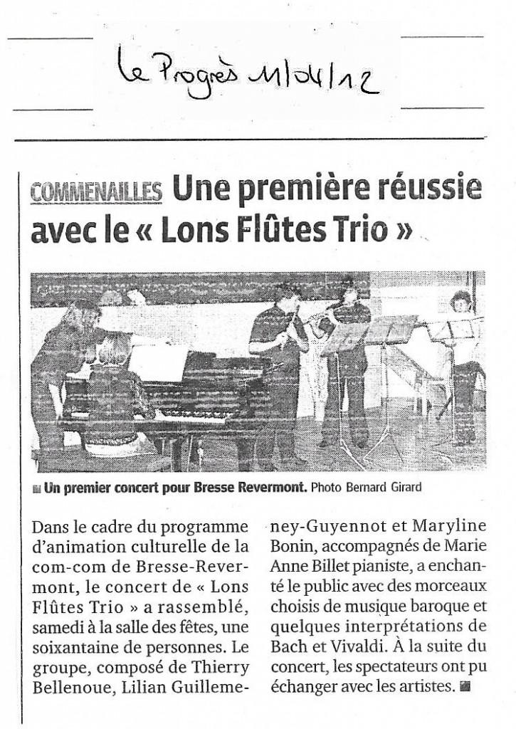 Concert Commenailles 11.04.2012